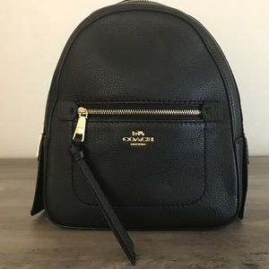 Coach Andi Black Pebble Leather Backpack NWT